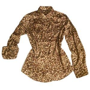Animal print Anne Klein shirt size L